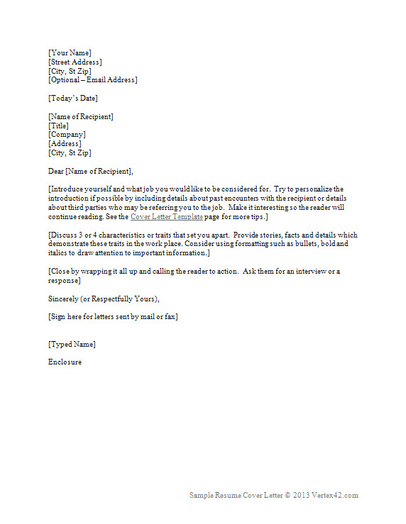 Resume Cover Letter format Word Resume Cover Letter Template for Word Sample Cover Letters