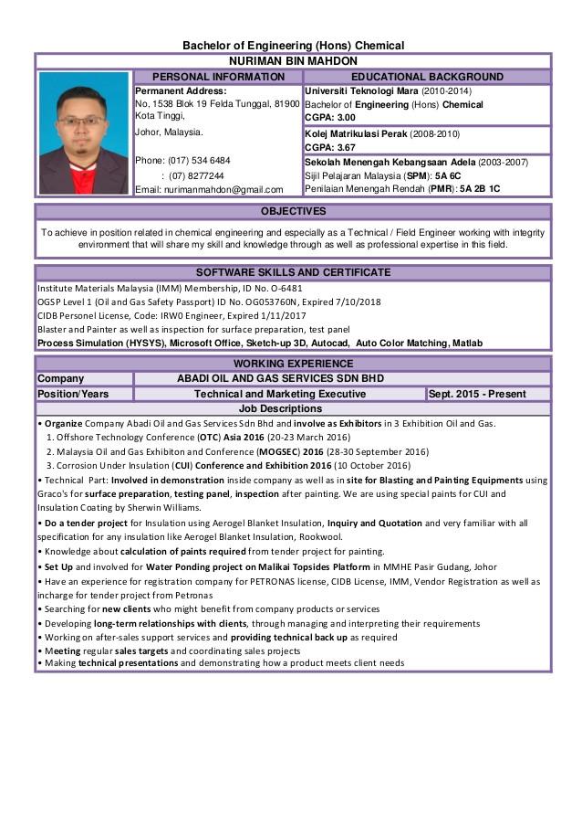 Resume Engineer Malaysia Resume Engineer