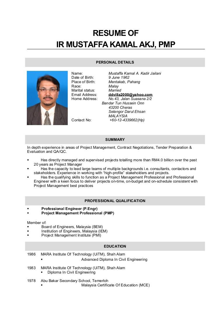 resume mustaffa kamal 2015
