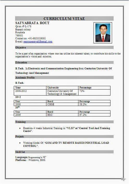 call center resume format