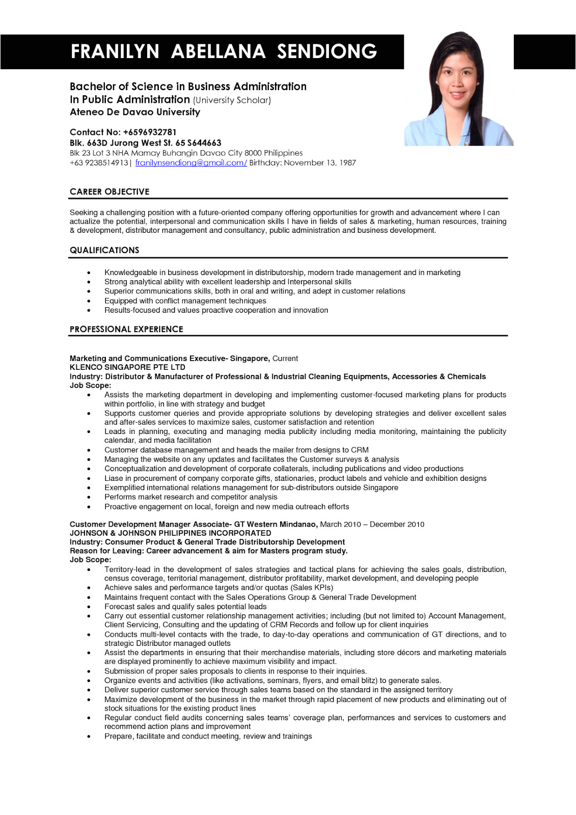 Resume format for Corporate Job Business Administration Resume Samples Sample Resumes