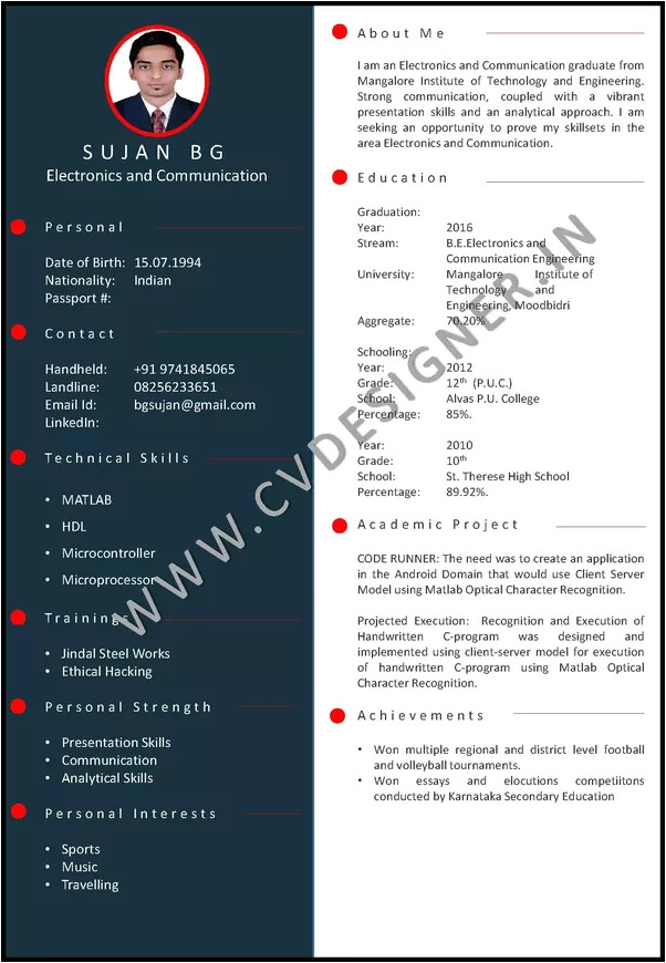 what are the sample best resumes for fresher to get selected