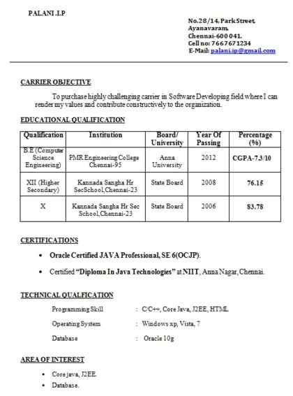 what is the best resume format for someone who is a fresher