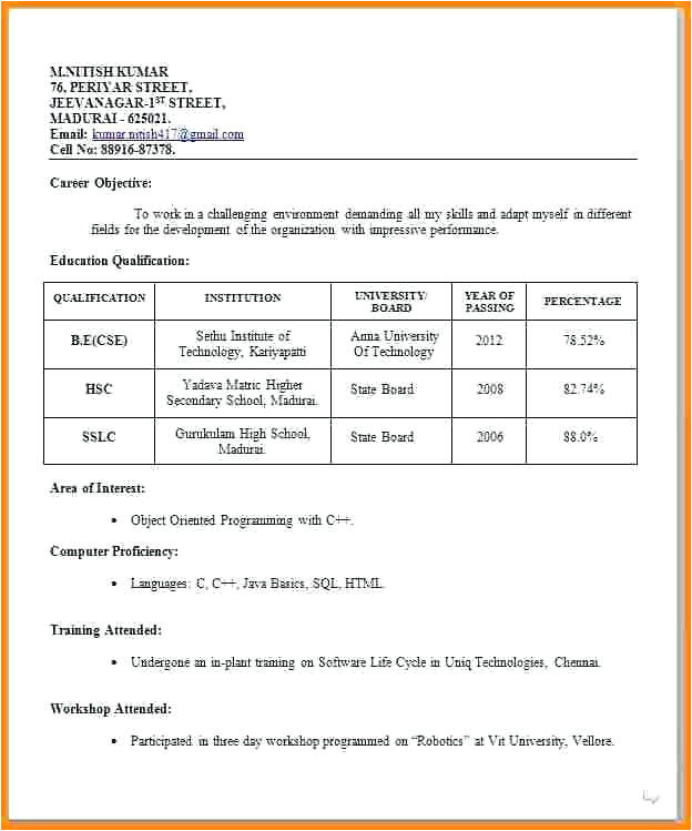 Resume format for Job Interview for Experienced Job Interview 3 Resume format Job Resume format Free