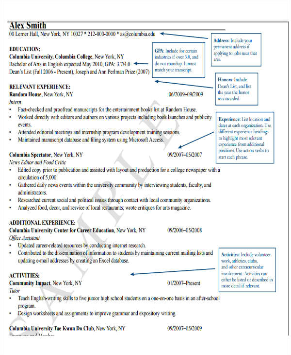 Resume format for Lecturer Word Fresher Lecturer Resume Templates 7 Free Word Pdf