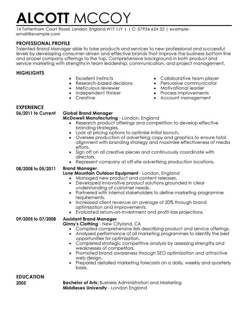 Resume format for Marketing Jobs Marketing Resume Examples Marketing Sample Resumes