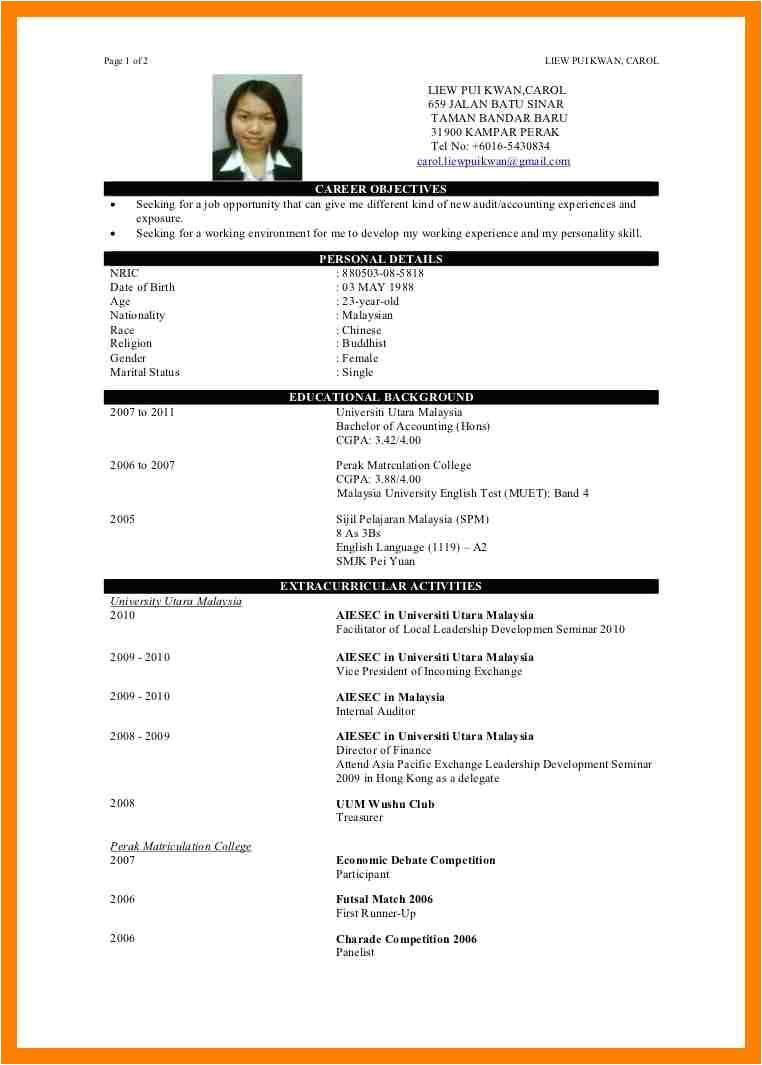 Resume format for Simple Graduate Simple Resume Sample for Fresh Graduate Janitor Cv