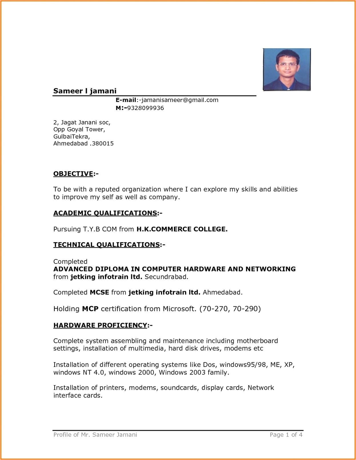 13 driver resume format in word