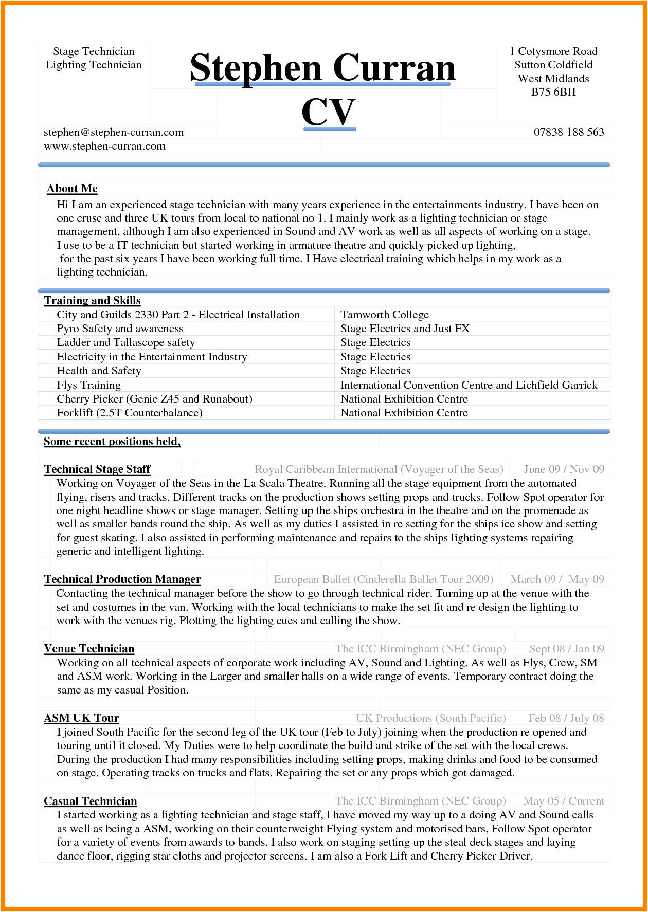 6 curriculum vitae download in ms word