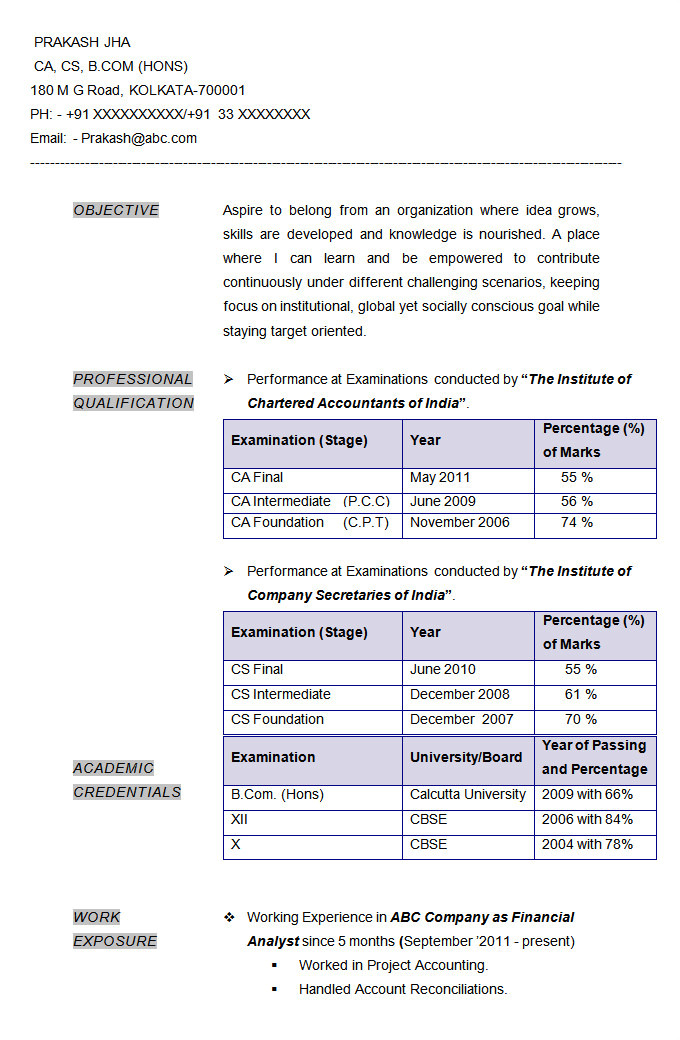 Resume format In Word for Accountant 23 Accounting Resume Templates Pdf Doc Free