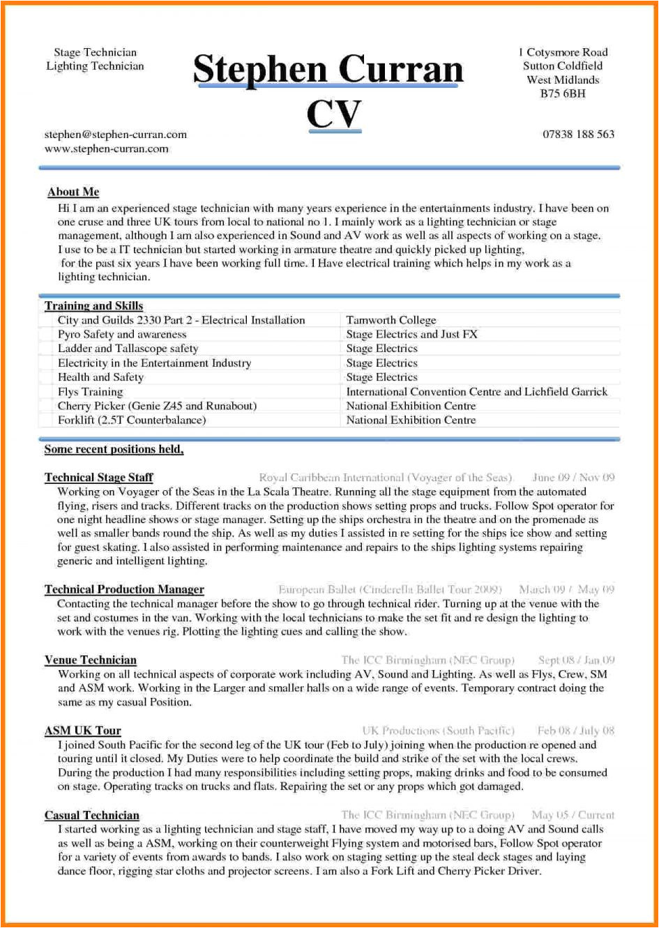 Resume format In Word for Civil Engineer Experienced Template Cv Template Word Doc Resume Samples Word Doc