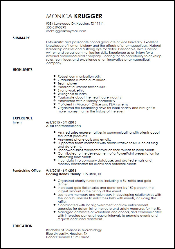 entry level medical sales representative