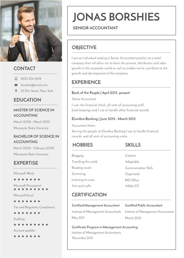 banking resume template word