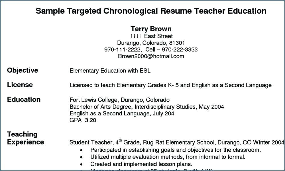 resume for hindi teacher