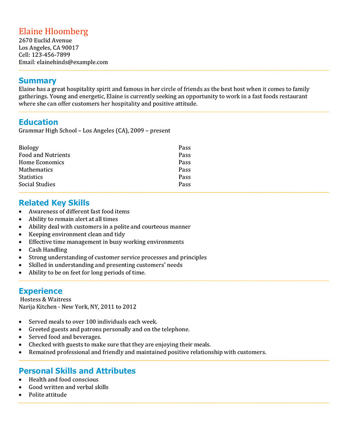 Resume Guide for Students Free High School Student Resume Examples Guide and Tips