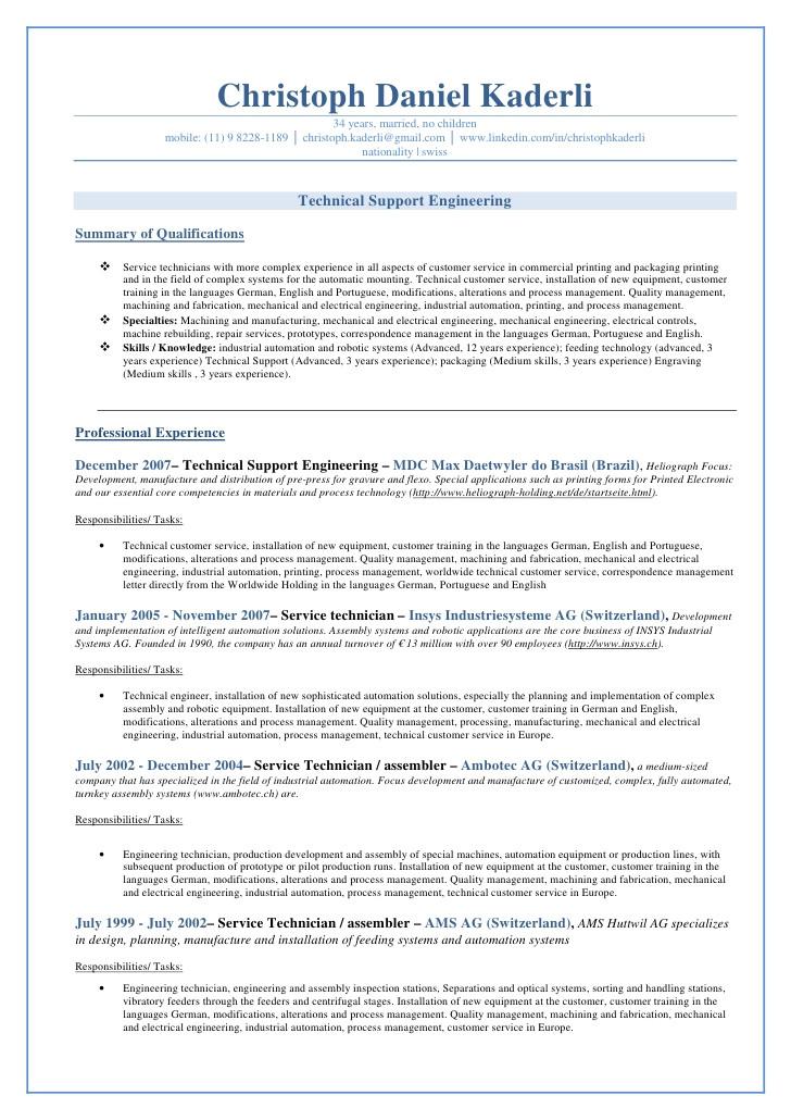 Resume In English for Job Application Job Application In English Job Application