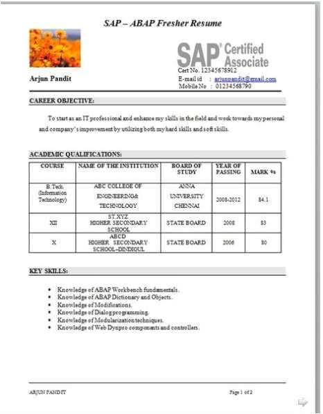 115348 resume models mba students