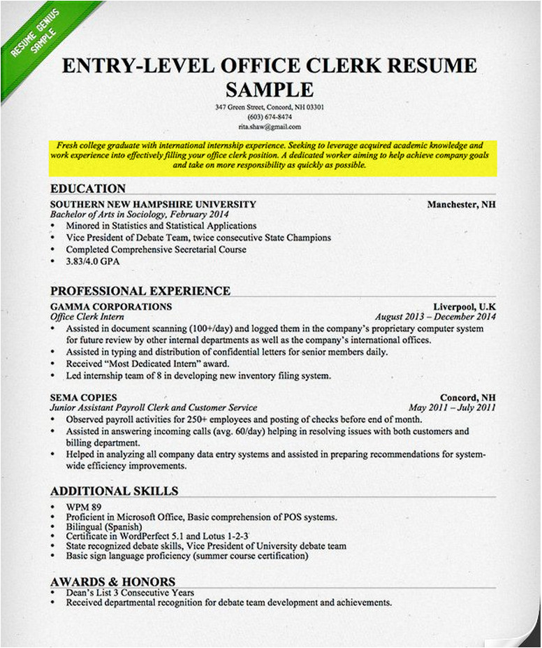 career objective writing guide