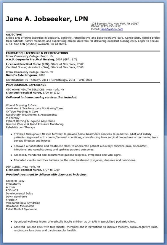 Resume Objective for Job Interview Best Ideas About Lvn Resume Nursing Resume and Nursing