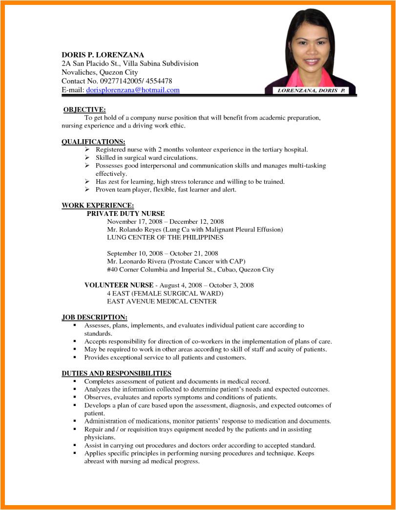 8 cv sample for job application