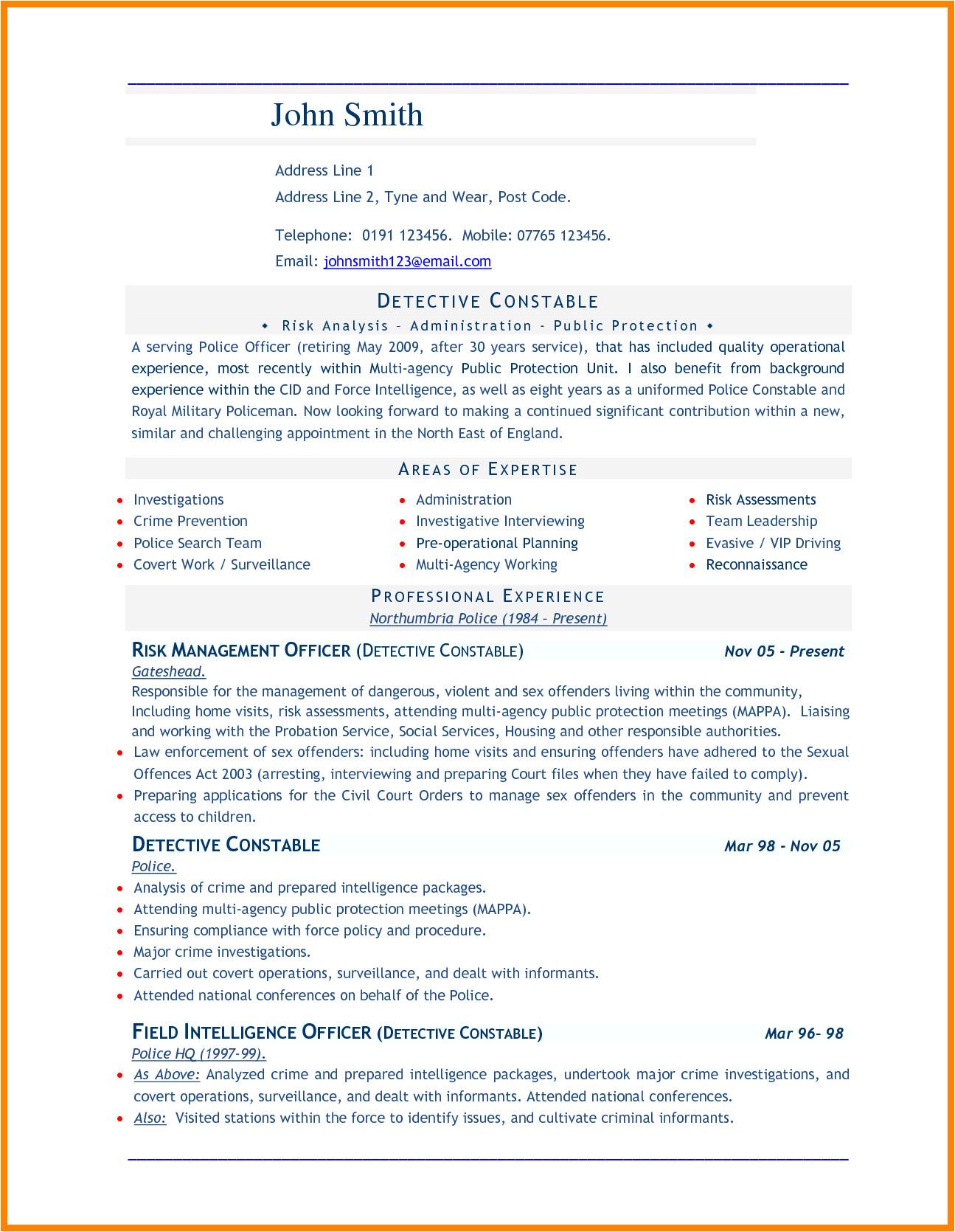 8 cv in word document