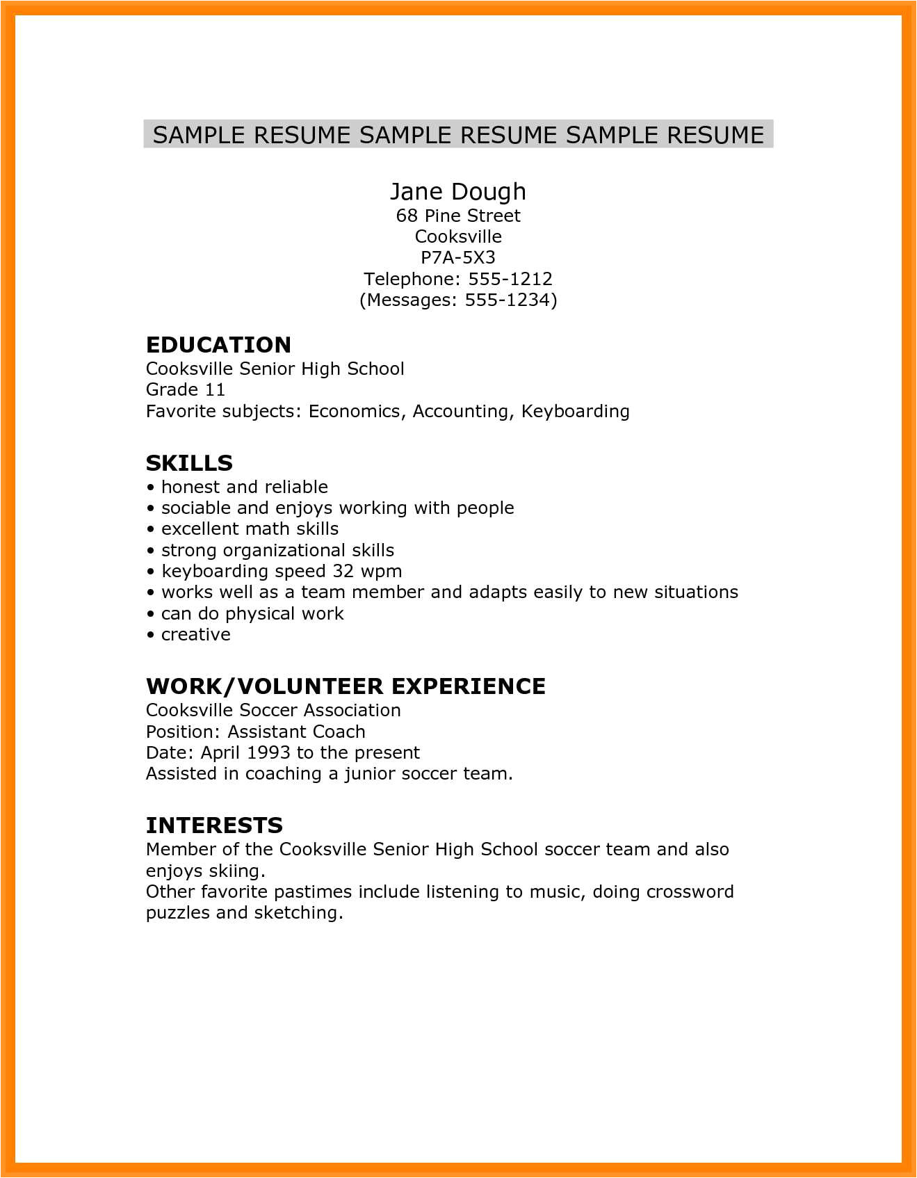 Resume Skills for High School Students 14 15 High School Student Resume Skills southbeachcafesf Com