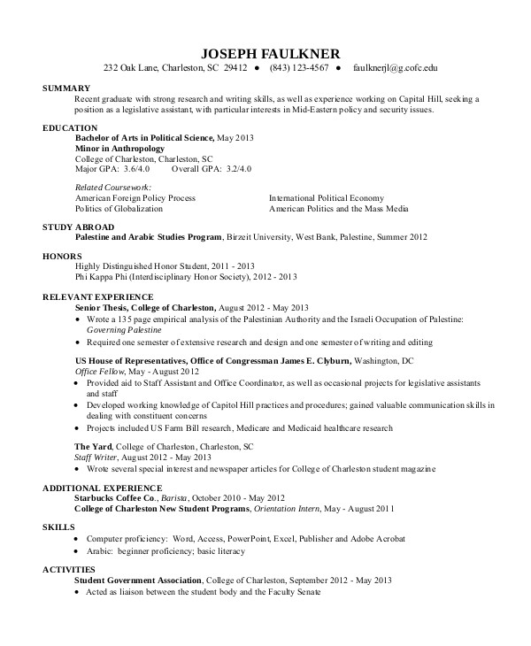 Resume Summary Examples for Students Sample Resume for College Student 10 Examples In Word Pdf