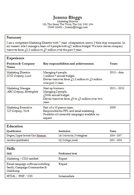 free tables cv resume template in microsoft word doc format