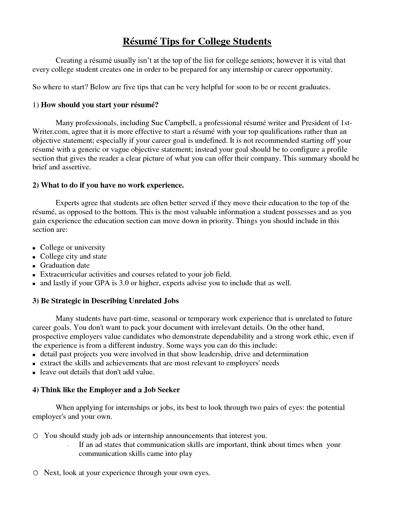 Resume Tips for Students Pin by Resumejob On Resume Job Student Resume College