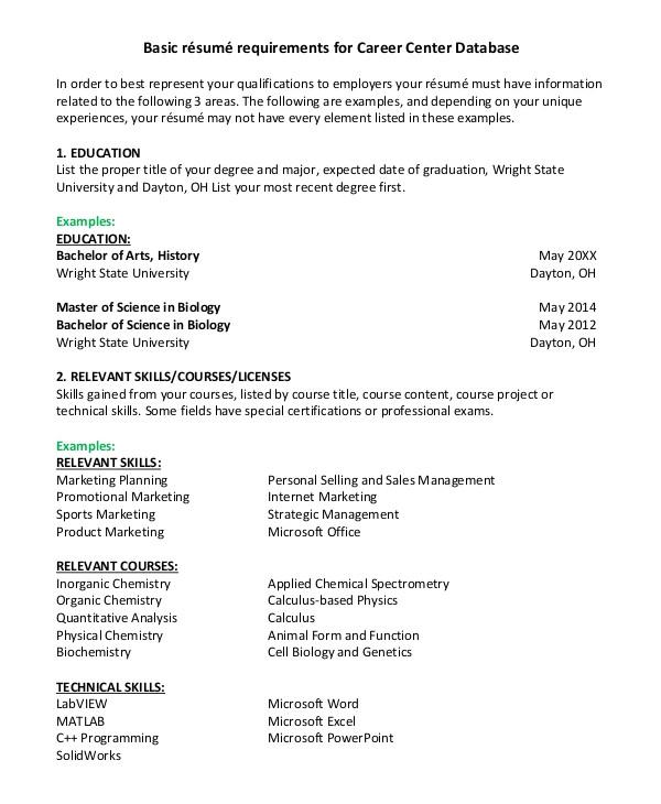 basic resumes