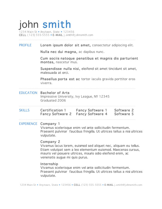 Sample Resume format Word Download 50 Free Microsoft Word Resume Templates for Download