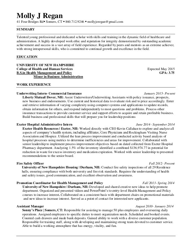 resume regan