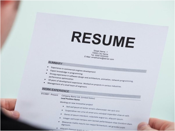 does not having a resume during an interview affect a candidate from getting hired