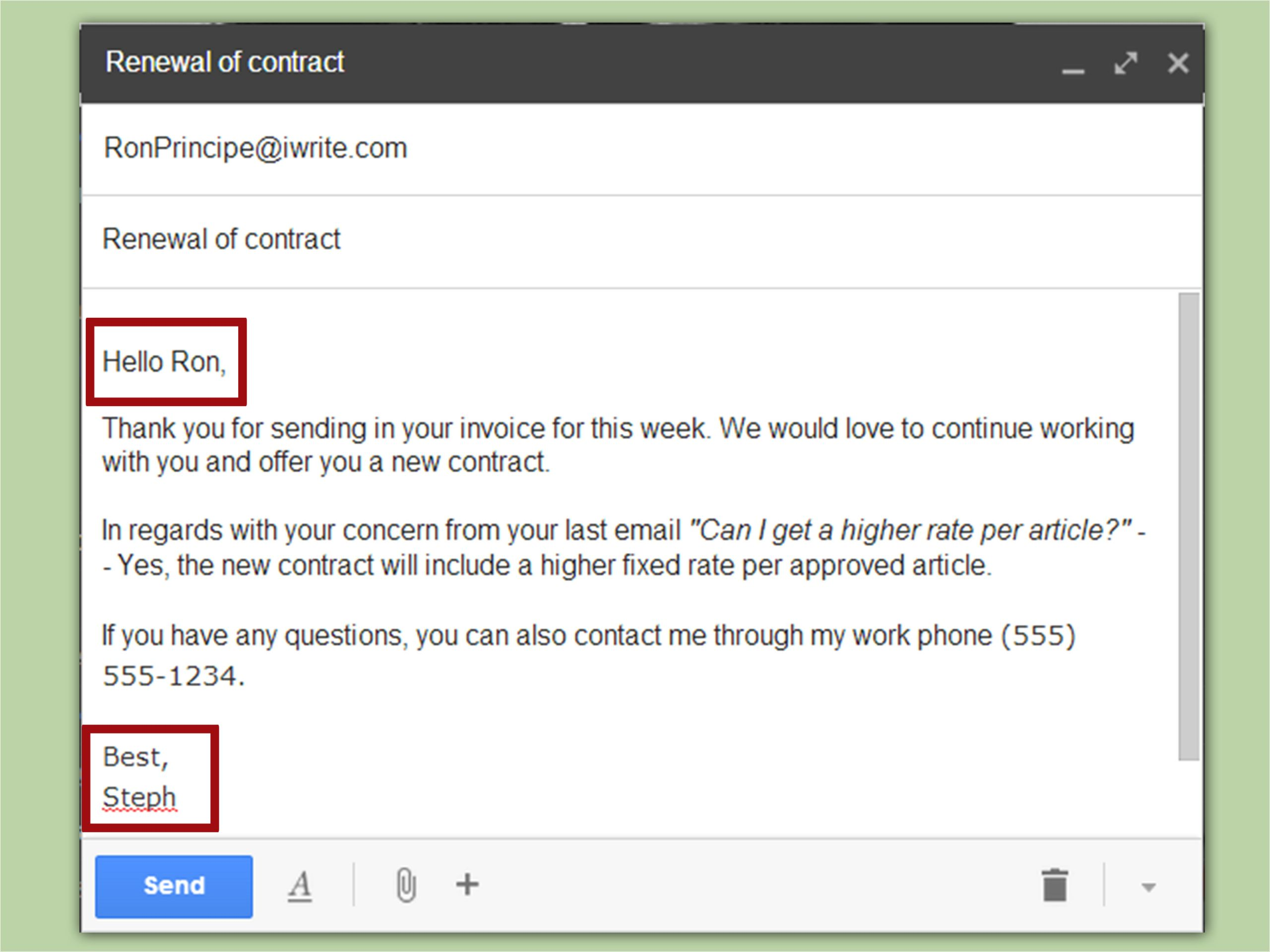 write business emails