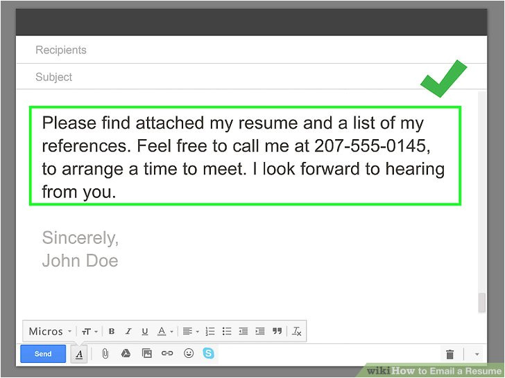 email a resume