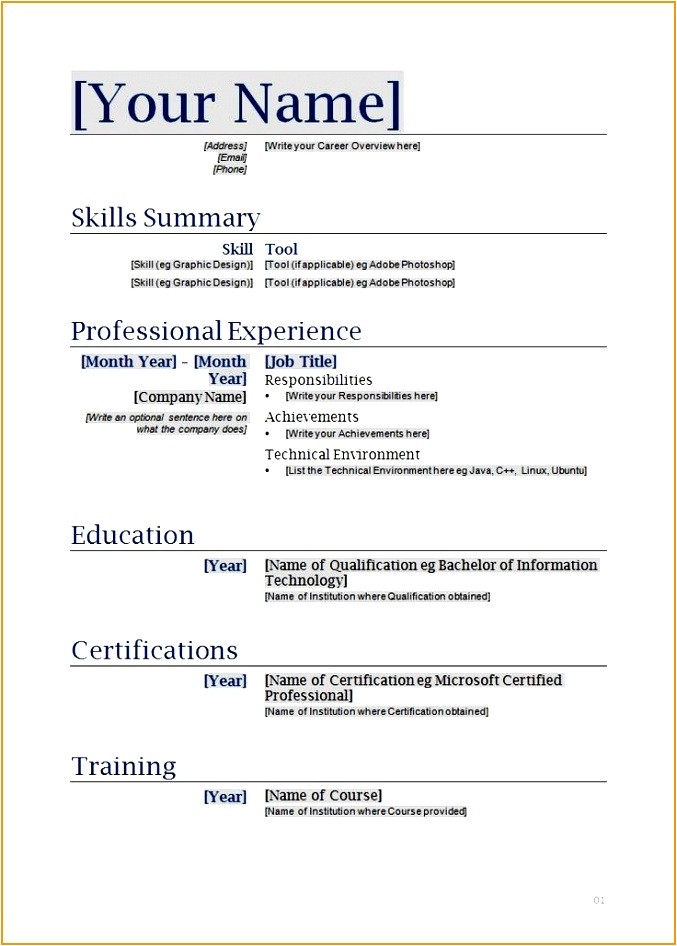 best resume formats 54034t
