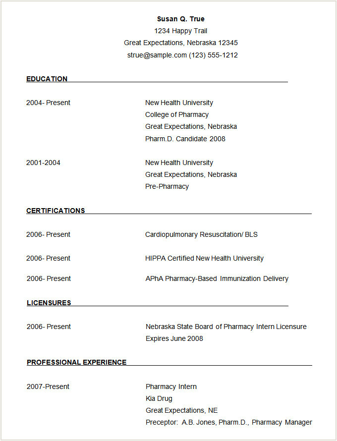 Simple Resume format Download In Ms Word for Fresher Exemple De Cv Nouveau Diplome Myoscommercetemplates Com