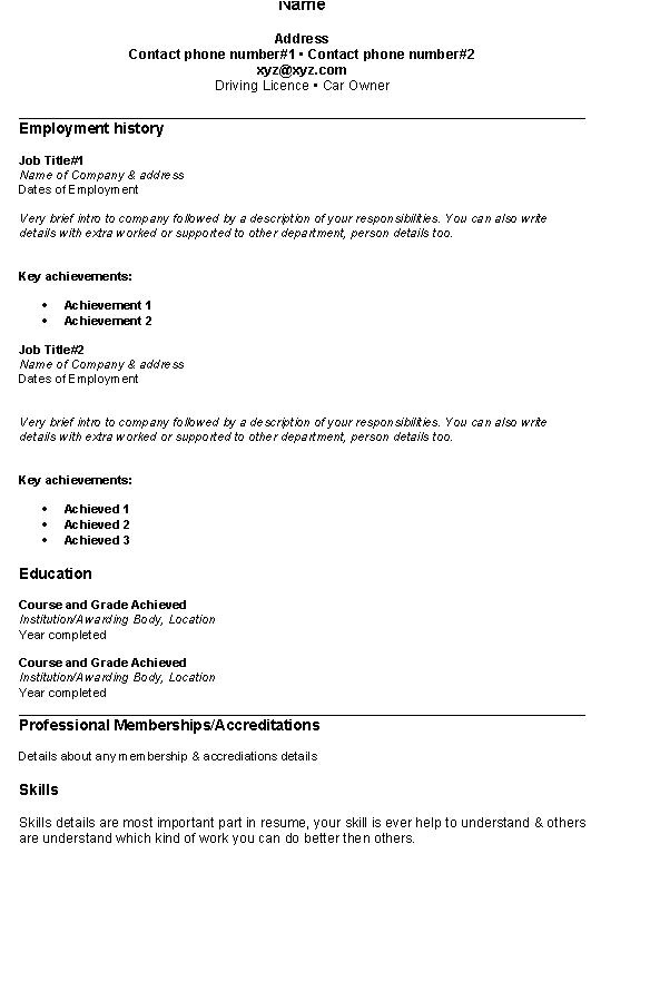 Simple Resume format Examples Fresh Jobs and Free Resume Samples for Jobs Simple Resume