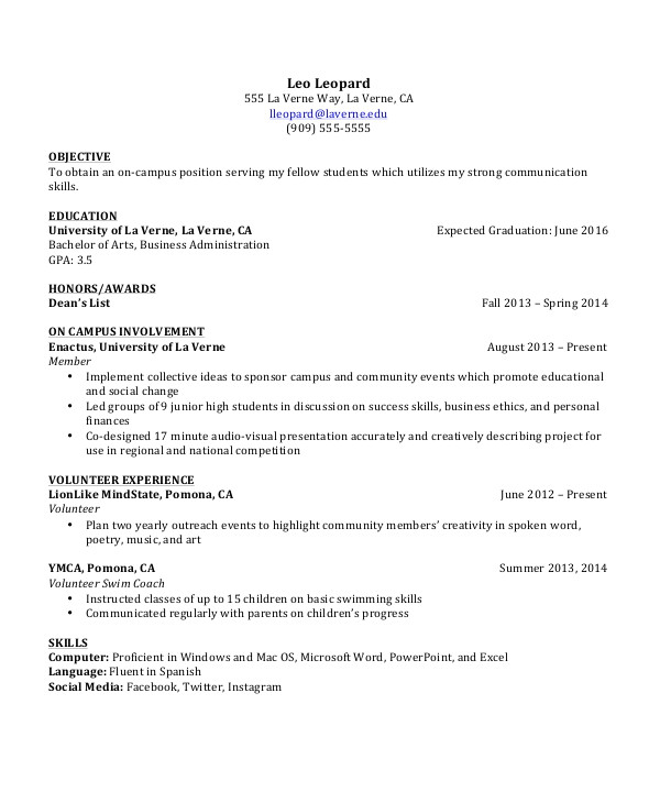 Simple Resume format for Undergraduate Students 9 Student Resume Templates Pdf Doc Free Premium