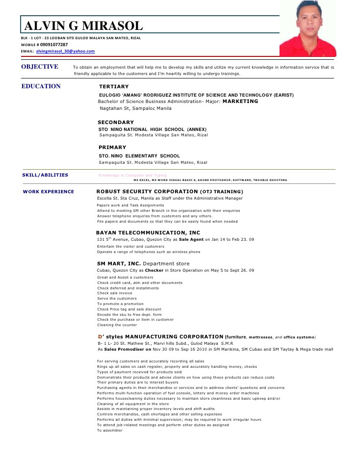 sample resume job description staff nurse