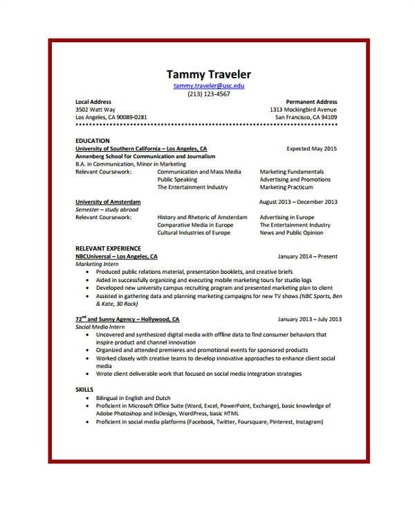 journalist resume sample