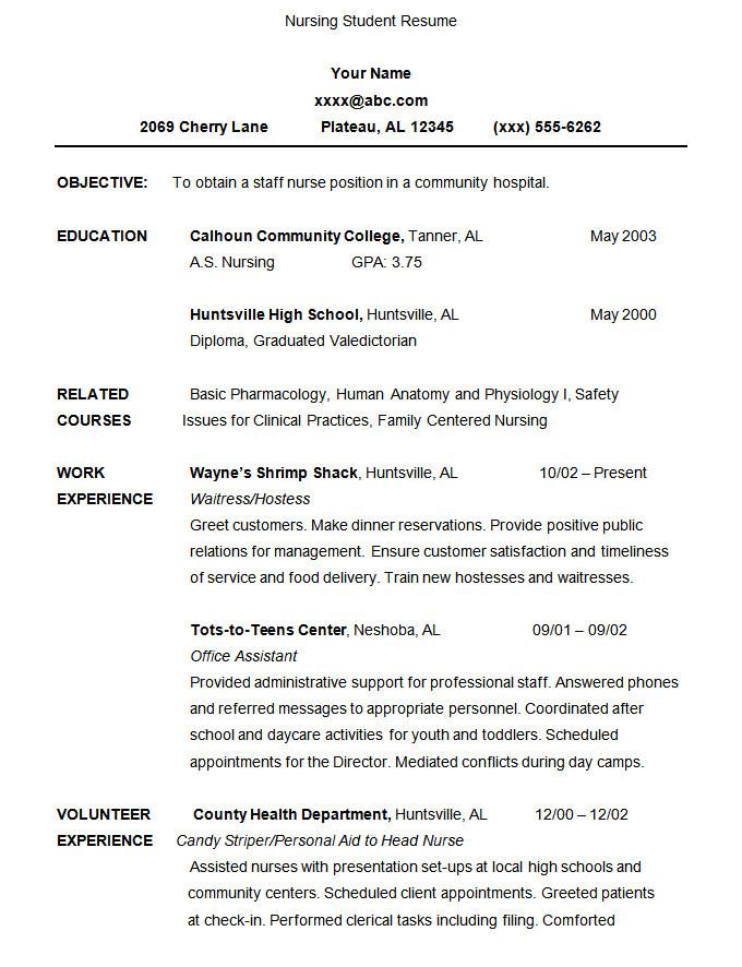 Student Resume format Doc 24 Student Resume Templates Pdf Doc Free Premium