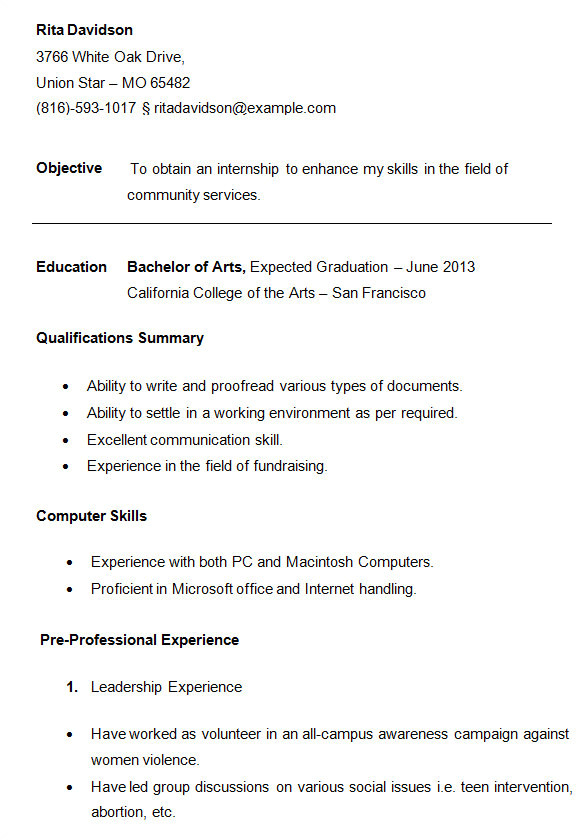Student Resume Images 24 Best Student Sample Resume Templates Wisestep