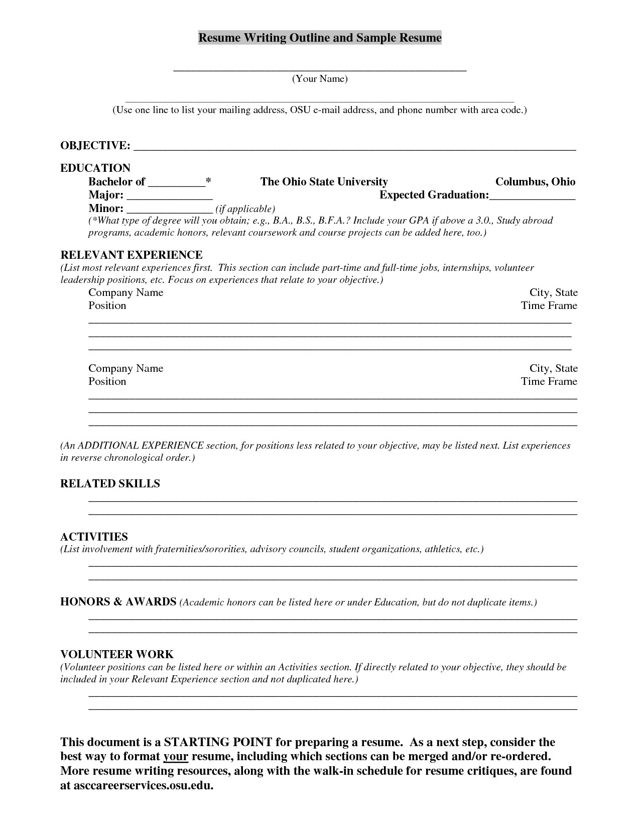 Additional coursework on resume focusing