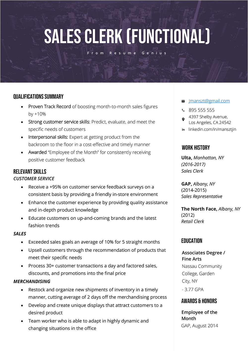 Student Resume Skills and Qualifications How to Write A Qualifications Summary Resume Genius
