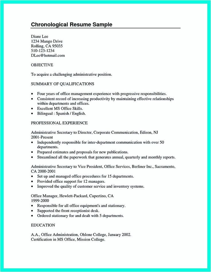 student resume summary statement