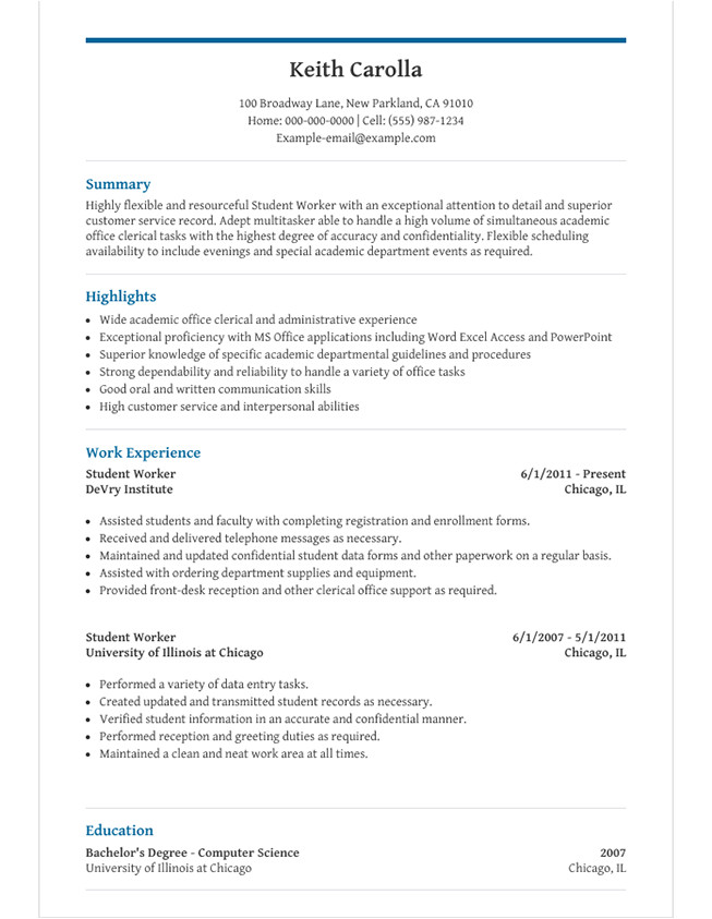 Student Resume Word High School Student Resume Template for Microsoft Word