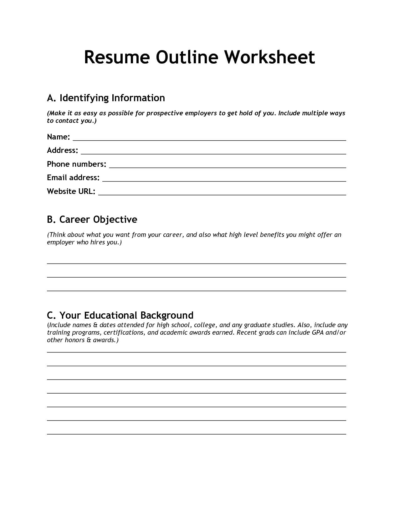 post high school student information worksheet 110650
