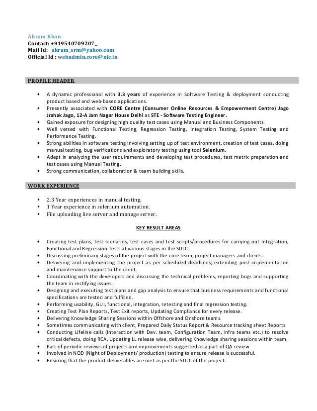 resume for software test engineer 56622332