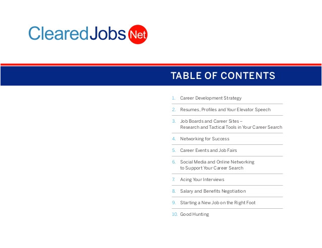 cleared job seeker guide
